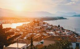 View of Poros island, Aegean, Greece. Travel. Stock Image
