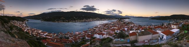 Poros island. Royalty Free Stock Images