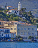 A view of Poros island, Greece Stock Images
