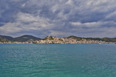 View of Poros island, Greece Royalty Free Stock Photography