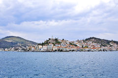 View of Poros island, Greece Royalty Free Stock Images