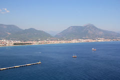 View of the port of Alanya Royalty Free Stock Photo