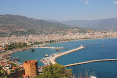 View of the port of Alanya Royalty Free Stock Photos