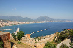 View of the port of Alanya Royalty Free Stock Images