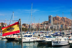 View of port. Alicante Stock Photos