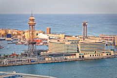 View of the port of Barcelona Royalty Free Stock Images