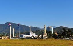 View of a port of Batumi city, Georgia Royalty Free Stock Photo