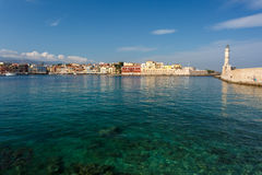 View of the port of Chania. Stock Images
