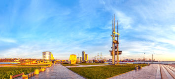 View of the port city of Gdynia Stock Photos