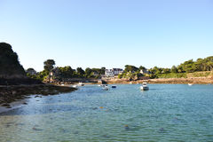 A view of Port Clos landing stade at low tide stock photo