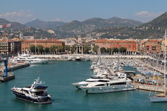 View of the Port De Nice. Stock Photography