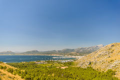 View on Port de Pollenca Royalty Free Stock Photography