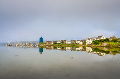 View of Port Ellen town on Isle of Skye, Scotland Stock Image