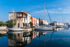 View of Port Grimaud, French little Venice Stock Photo