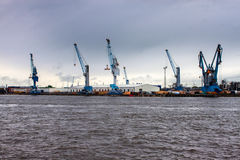 View of a port in Hamburg Stock Photography