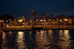 View on the port and harbour in Cartagena, Spain Stock Photos
