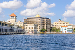 View of the port in Havana, Cuba Royalty Free Stock Images