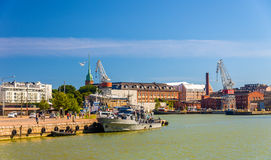 View of Port of Helsinki Royalty Free Stock Images