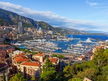 Port Hercule, Monaco. stock photography