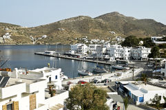 View of the port of Ios island, Greece Royalty Free Stock Image