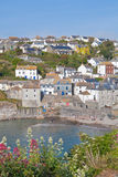 View of Port Isaac bay in Cornwall Stock Images