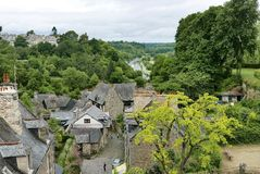 View of port from Dinan Stock Image