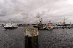 View of the port of Kiel in Germany Stock Image