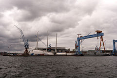 View of the port of Kiel in Germany Stock Photos