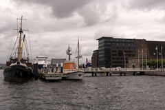 View of the port of Kiel in Germany Royalty Free Stock Image