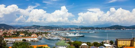 View on the port of La Spezia Italy royalty free stock images