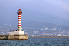 View of the port light Royalty Free Stock Images