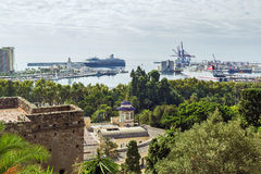 View of the port of Malaga, Spain Stock Photo