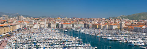 View of the port of Marseille Stock Image
