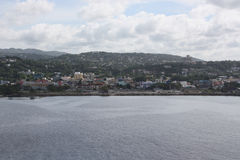 View of Port of Montego Bay. Jamaica from a cruise ship Royalty Free Stock Photography