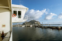 A view of the port and mount Pellegrino and the city of Palermo Royalty Free Stock Photos
