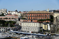 View from the port of Naples,Italy Stock Photography