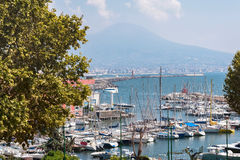 View of port in Naples Stock Photo