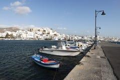 Port of Naxos island stock images