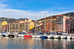 View on Port of Nice, French Riviera, France Stock Images