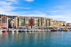 View on Port of Nice and Luxury Yachts, France Royalty Free Stock Photo