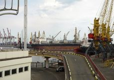 View of the port of Odessa Royalty Free Stock Photo