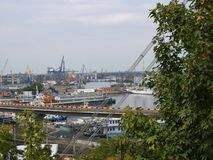View of the port of Odessa Stock Photo