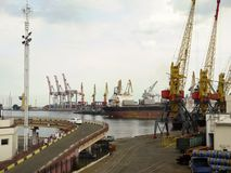 View of the port of Odessa Royalty Free Stock Images