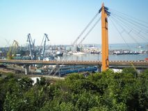 View of the port of Odessa Royalty Free Stock Photos
