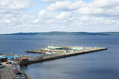 View of the port Petrozavodsk. Top view of the port of Petrozavodsk, Russia, lake Onego Royalty Free Stock Image