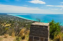 View of Port Phillip Bay from Murrays Lookout , Arthurs Seat, Mo. Stunning view of Port Phillip Bay from Murrays Lookout , Arthurs Seat, Mornington Peninsula Royalty Free Stock Photo