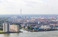 View of port in Rotterdam Royalty Free Stock Photography