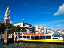 View of Port San Marco at Venice , Italy. Background with Blue Sky Royalty Free Stock Images
