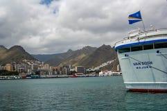 View of the port of Santa Cruz stock photo
