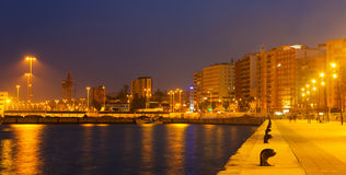 View of port side at Algeciras stock photography